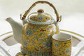 Teapot with cup Royalty Free Stock Photo