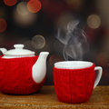 Teapot and cup Royalty Free Stock Photo