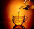 Teapot and cup of tea Royalty Free Stock Photo
