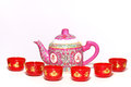 Teapot And Cups Royalty Free Stock Images