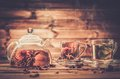 Teapot and glass cups Royalty Free Stock Photo