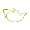 Teapot icon illutration in vector Stock Images