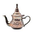 Teapot oriental silver isolated on white background Stock Image