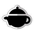 Teapot silhouette isolated icon