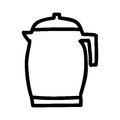 Teapot silhouette isolated icon
