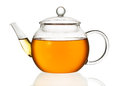Teapot with tea isolated in white background Royalty Free Stock Photography