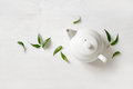 Teapot with tea, view from above Royalty Free Stock Photo