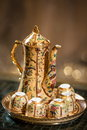Teapot and teacup chinese in wedding ceremony Royalty Free Stock Photos