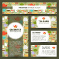 Teapots and cups pattern corporate identity