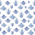 Teapots with cups