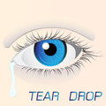 Tear drop woman eye sadness Stock Image