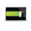 Tear paper with grass  illustration Royalty Free Stock Photo