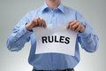 Tearing up the rules Royalty Free Stock Photo