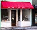 Tease blow dry bar charleston sc located on king street Royalty Free Stock Photo