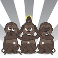 Teasing three wise monkeys
