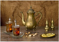 Teatime in the eastern traditions still life Stock Images