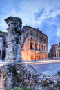 Teatro di marcello rome also called the small coliseum italy Royalty Free Stock Photos