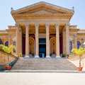 Teatro Massimo - opera house in Palermo, Sicily Royalty Free Stock Photo