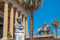 Teatro massimo in palermo sicily italy – june vittorio emanuele the opera house which opened figures the final scenes Stock Photo