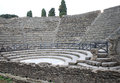 Teatro piccolo in ancient pompeii italy the city of was an roman town city near modern naples along with herculaneum and many Stock Images