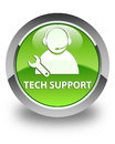 Tech support glossy green round button