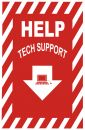 Tech Support Sign Royalty Free Stock Photography
