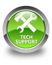 Tech support (tools icon) glossy green round button