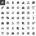 Tech support vector icons set