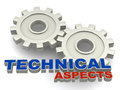Technical aspects Royalty Free Stock Photo