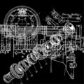 Technical drawing Royalty Free Stock Images