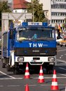 Technical relief germany thw equipment vehicle for civil protection Stock Photos