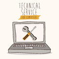 Technical service design over white background vector illustration Stock Photography