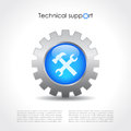 Technical support vector icon Royalty Free Stock Photos