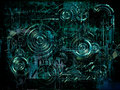 Technically electronic background, 3D illustration Royalty Free Stock Photo