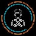 Technician concept line icon.