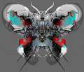 Techno Butterfly. Royalty Free Stock Photo