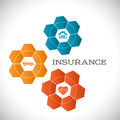 Techno flower concept insurance infographics template
