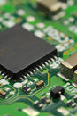Techno macro photo of an electronic circuit in vertical composition Stock Photo