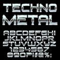 Techno metal style letters and symbols .