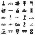 Technol icons set, simple style