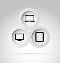 Technological buttons over gray background vector illustration Stock Images