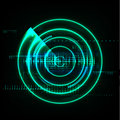Technological global radar modern abstract background vector
