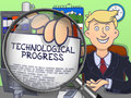 Technological Progress through Lens. Doodle Concept. Royalty Free Stock Photo