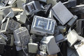 Technological trash obsolete electronic equipment to be recycled Royalty Free Stock Photos
