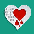 Technological world heartbleed bug feelings blood donation and heart health concept for modern Royalty Free Stock Photography