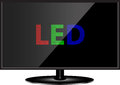 Technologie de LED TV Photos stock