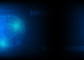 Technology abstract background in blue, hi-tech sci-fi cyberspace theme concept,  eps 10 illustrated Royalty Free Stock Photo