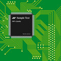 Technology background, computer circuit board Stock Photography