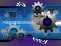 Technology background with gears abstract high tech blue in motion concept Stock Photos