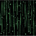 Technology binary background. Binary on green background Royalty Free Stock Photo